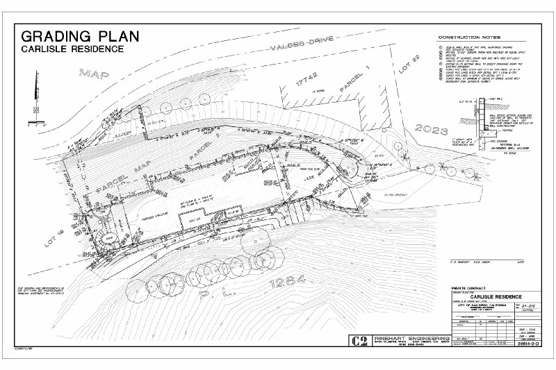 Rinehart Engineering Engineering – Site Grading Plan